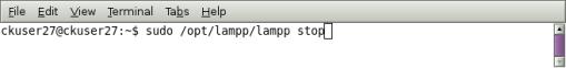 stop xampp